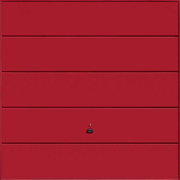 Garador Ascot Canopy Garage Door in Ruby Red