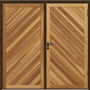 Garador Chevron Timber Side Hinged Garage Door