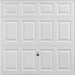 Garador Beaumont Retractable Garage Door in White
