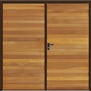 Garador Horizontal Cedar Timber Side Hinged Garage Door
