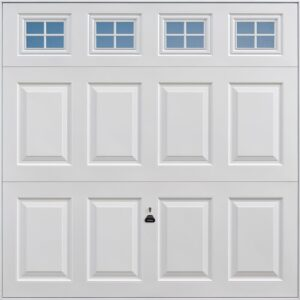Garador Beaumont with Windows Retractable Garage Door in White