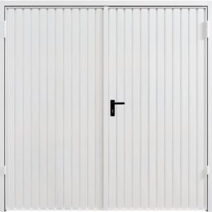 Carador Carlton Steel Side Hinged Garage Door in Traffic White