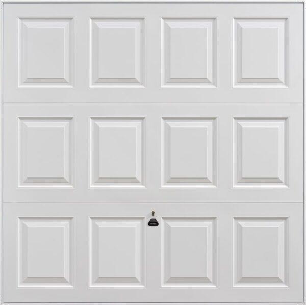 Garador Georgian Retractable Garage Door in White